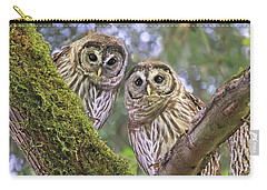 Young Barred Owlets  Carry-all Pouch