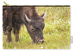Carry-all Pouch featuring the photograph Young Bison by Belinda Greb