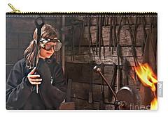 Young Blacksmith Girl Art Prints Carry-all Pouch
