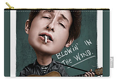 Young Bob Dylan Carry-all Pouch by Andre Koekemoer