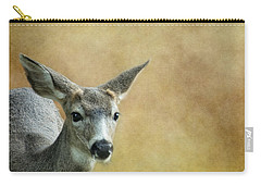 Carry-all Pouch featuring the photograph Young Buck by Belinda Greb
