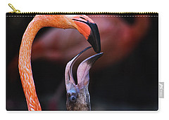 Young Flamingo Feeding Carry-all Pouch