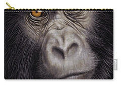 Young Gorilla Painting Carry-all Pouch by Rachel Stribbling