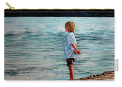 Young Lad By The Shore Carry-all Pouch