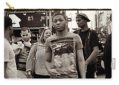 Young Man And Guy With Cap - Times Square Carry-all Pouch by Miriam Danar