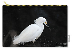 Young Snowy Egret Carry-all Pouch by Susan Wiedmann