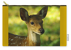 Carry-all Pouch featuring the photograph Young Spotted Deer by Jacqi Elmslie