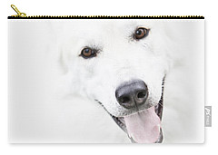 Carry-all Pouch featuring the digital art Young Wolf by Erika Weber
