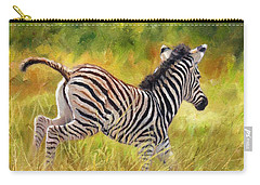 Young Zebra Carry-all Pouch by David Stribbling