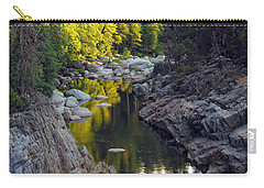 Yuba River Twilight Carry-all Pouch by Donna Blackhall
