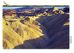 Carry-all Pouch featuring the photograph Zabriski Point #2 by Stuart Litoff