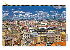 Zagreb Lower Town Colorful Panoramic View Carry-all Pouch