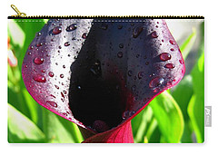 Zantedeschia Named Black Forest Carry-all Pouch by J McCombie