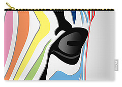 Zebra 1 Carry-all Pouch by Mark Ashkenazi