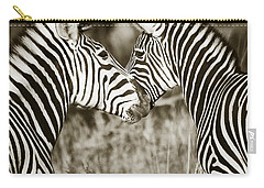 Zebra Affection Carry-all Pouch by Liz Leyden