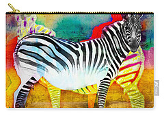 Zebra Colors Of Africa Carry-all Pouch by Barbara Chichester