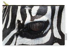 Carry-all Pouch featuring the photograph Zebra Eye by Linda Sannuti