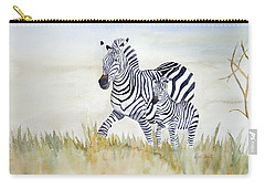 Zebra Family Carry-all Pouch