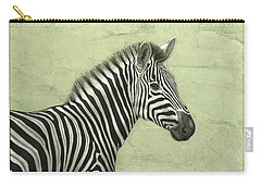 Zebra Carry-all Pouch by James W Johnson