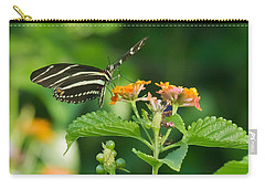 Carry-all Pouch featuring the photograph Zebra Longwing by Jane Luxton