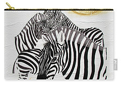 Zebra Quintet Carry-all Pouch by Stephanie Grant
