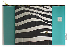 Zebra Stripe Mural - Door Number 2 Carry-all Pouch by Sean Connolly