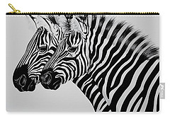 Zebra Twins Carry-all Pouch by Cheryl Poland