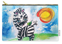 Zebra Zee  Carry-all Pouch