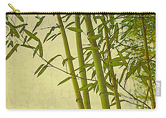 Carry-all Pouch featuring the photograph Zen Bamboo Abstract I by Marianne Campolongo