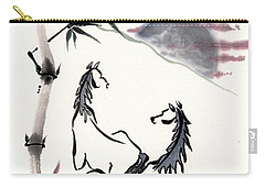 Zen Horses Evolution Of Consciousness Carry-all Pouch by Bill Searle