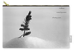 Carry-all Pouch featuring the photograph Zen Wisdom Stillness by Peter v Quenter