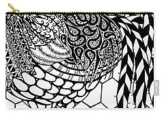 Zentangle Rooster Carry-all Pouch