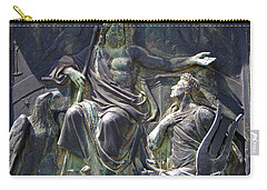 Carry-all Pouch featuring the photograph Zeus Bronze Statue Dresden Opera House by Jordan Blackstone