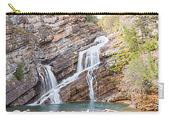Carry-all Pouch featuring the photograph Zigzag Waterfall by John M Bailey
