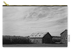 Zink Rd Farm 2 In Black And White Carry-all Pouch