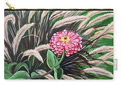 Zinnia Among The Grasses Carry-all Pouch