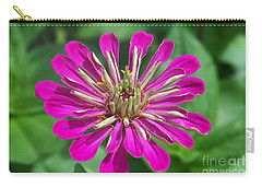 Carry-all Pouch featuring the photograph Zinnia Opening by Eunice Miller