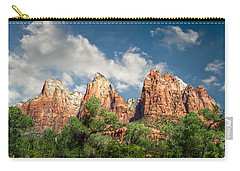 Carry-all Pouch featuring the photograph Zion Court Of The Patriarchs by Tammy Wetzel