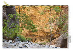 Carry-all Pouch featuring the photograph Zion Narrows by Bryan Keil