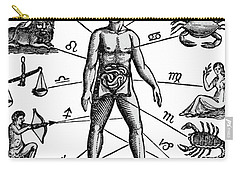 Zodiac Man Drawing Relating Astrology Carry-all Pouch