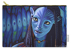 Zoe Saldana As Neytiri In Avatar Carry-all Pouch