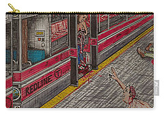 Zombies On The Red Line Carry-all Pouch