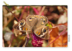 Carry-all Pouch featuring the photograph  Buckeye Butterfly  by Eva Kaufman