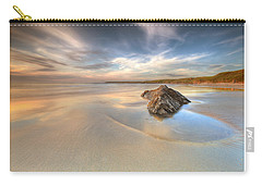 Dusk On The Beach Carry-all Pouch by Beverly Cash