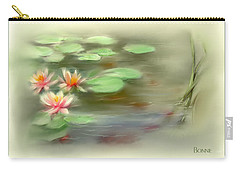 Carry-all Pouch featuring the painting  Gold Fish Pond by Bonnie Willis