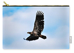 Carry-all Pouch featuring the photograph  Juvenile Bald Eagle by Peggy Franz