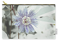Passion Flower On White Carry-all Pouch