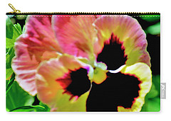 Pink And Yellow Pansy Carry-all Pouch