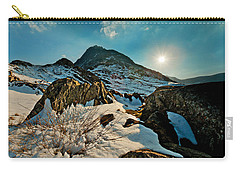 Spring Snows At Tryfan Carry-all Pouch by Beverly Cash
