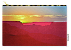 Carry-all Pouch featuring the painting   Sunset At Grand Canyon Desert View by Bob and Nadine Johnston